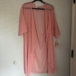 Lularoe Pink Kimono-Style Shirley